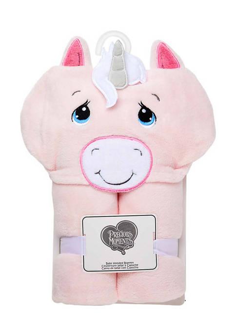 Precious Moments Baby Girls Unicorn Hooded Blanket