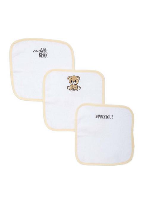 Precious Moments Baby Bear 3 Piece Bath Washcloths