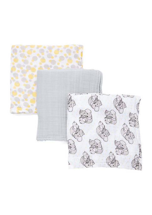 Baby 3 Coordinating Muslin Swaddling Blankets