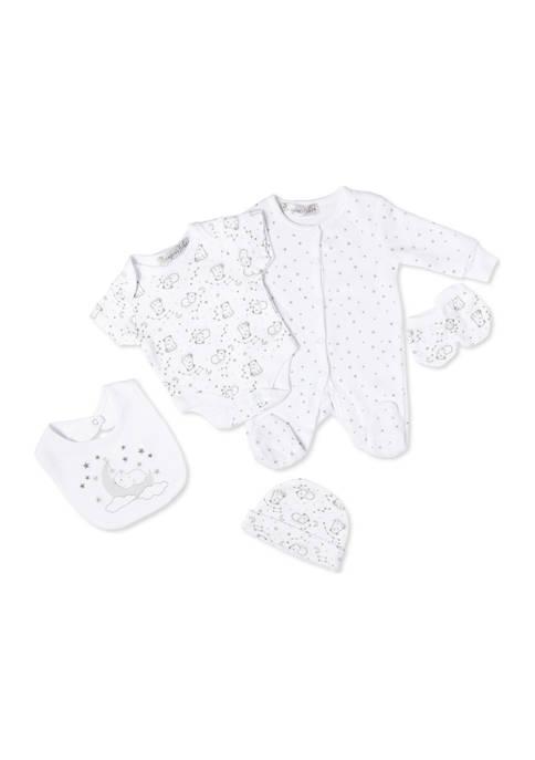 Bonjour Bebe Baby Bears Velour 5 Piece Layette
