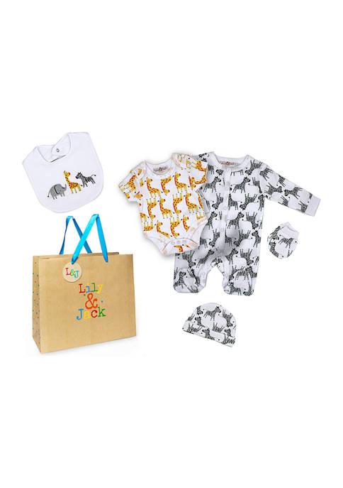 Grandmas2Share Baby Boys and Girls 5 Piece Safari