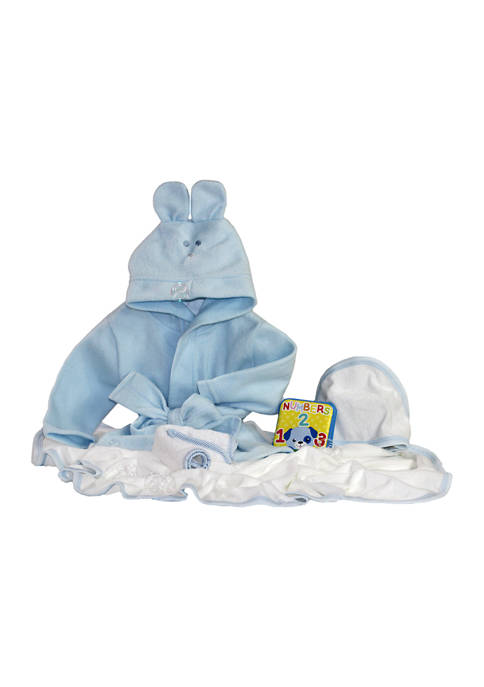 3 Stories Trading Baby Boys Blue Robe Bath