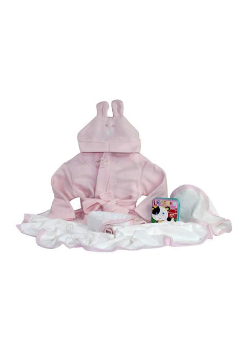 3 Stories Trading Baby Girls Pink Robe Bath