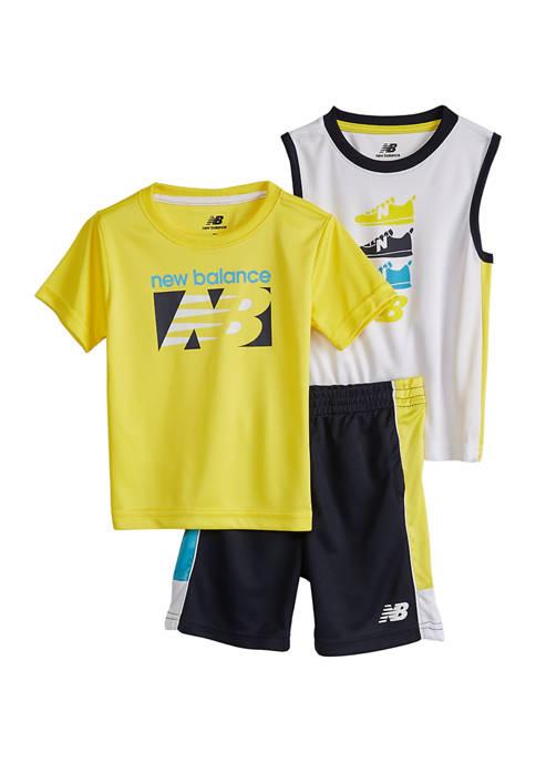 New Balance Toddler Boys Active Shorts 3 Piece