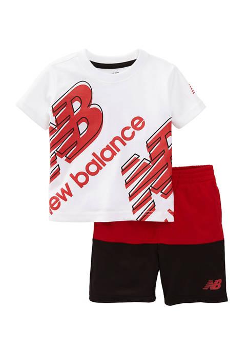 New Balance Toddler Boys 2-Piece Active Shorts Set