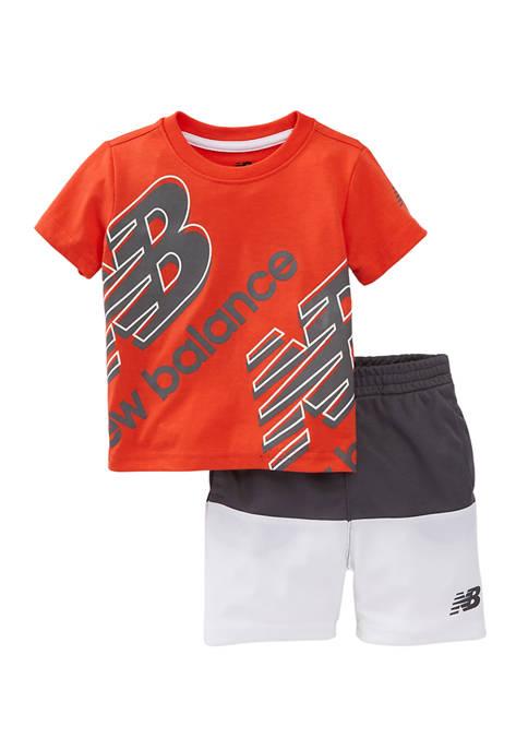 Baby Boys 2-Piece Active Shorts Set