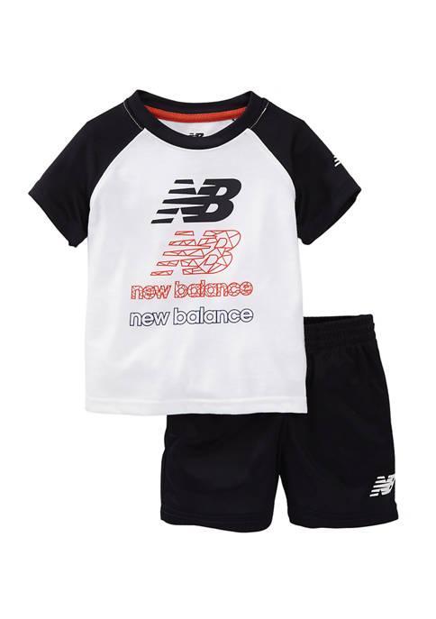 New Balance Baby Boys 2-Piece Active Shorts Set