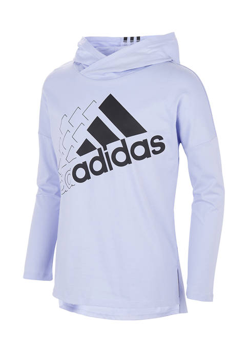 adidas Toddler Girls Long Sleeve Hooded Graphic Pullover