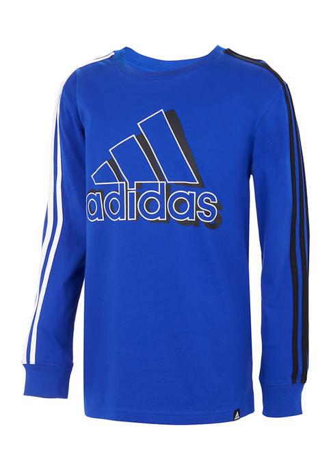 adidas Toddler Boys Long Sleeve Logo Graphic T-Shirt