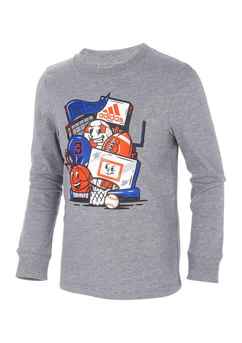 Toddler Boys Sports Balls Long Sleeve T-Shirt
