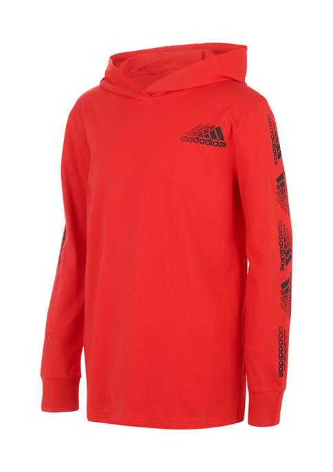 adidas Toddler Boys Long Sleeve Hooded T-Shirt