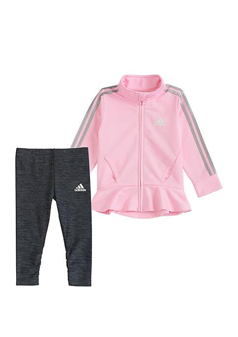 adidas Toddler Girls Jacket and Tight Set