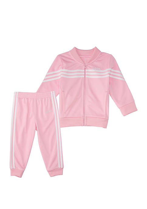 adidas Toddler Girls 2 Piece Linear Tricot Jacket