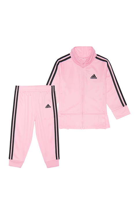 adidas Toddler Girls Pleated Tricot Jacket Set