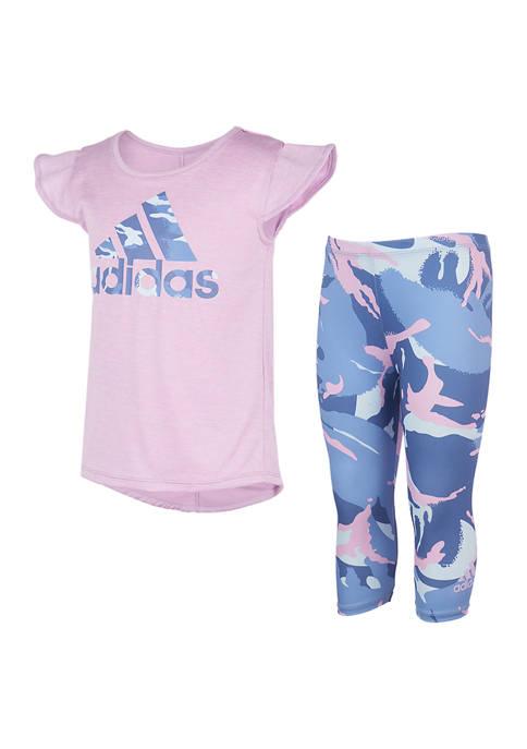 adidas Toddler Girls Camo Capri Tights Set