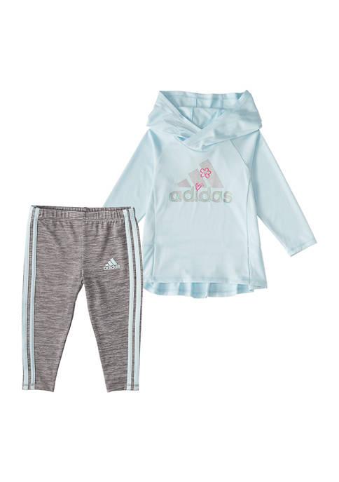 Baby Girls Hooded Long Sleeve 2-Piece Set