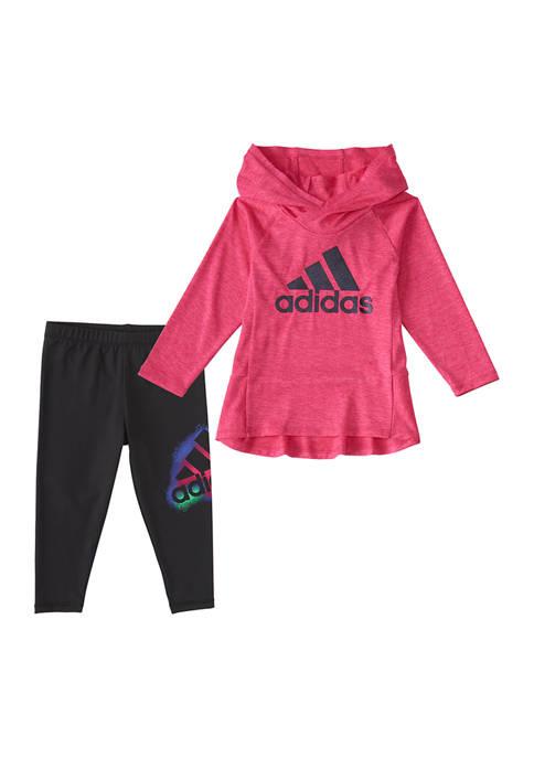adidas Baby Girls Hooded Long Sleeve 2-Piece Set