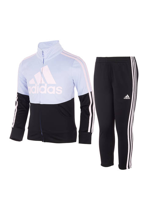 adidas Toddler Girls Full-Zip Jacket and Pants Set