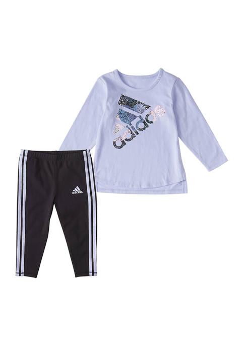 adidas Baby Girls 2 Piece Graphic Set