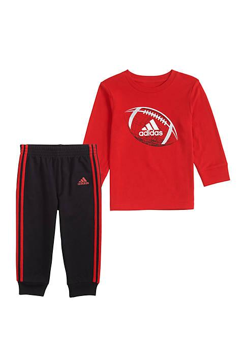 adidas Toddler Boys Cotton T Shirt Jogger Set