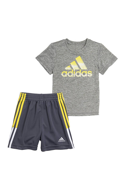adidas Toddler Boys Graphic Heather T-Shirt and Shorts