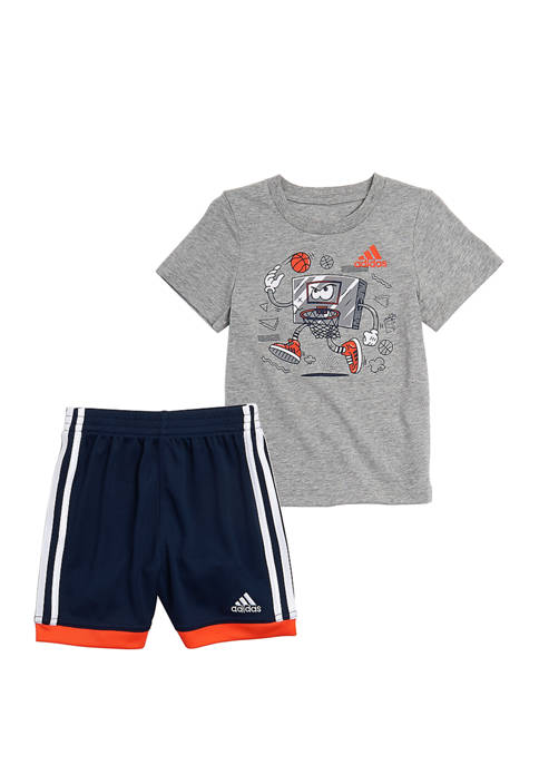 adidas Toddler Boys Graphic T-Shirt and Shorts Set