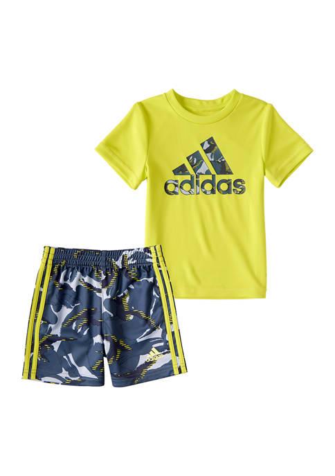 adidas Toddler Boys Action Camo Shorts Set