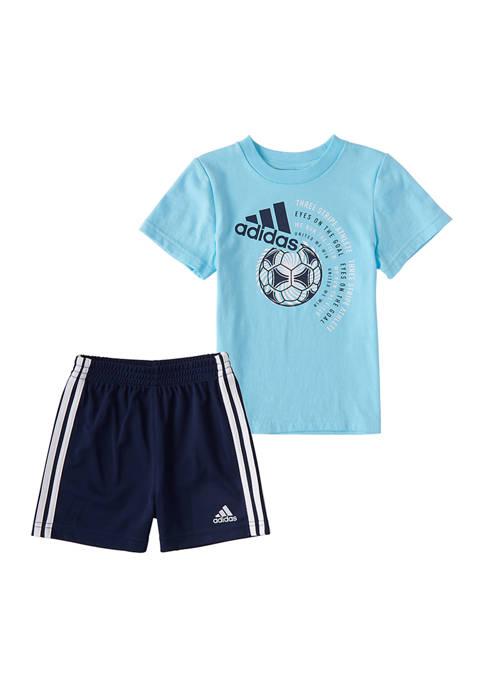 adidas Toddler Boys Cotton T-Shirt and Shorts Set