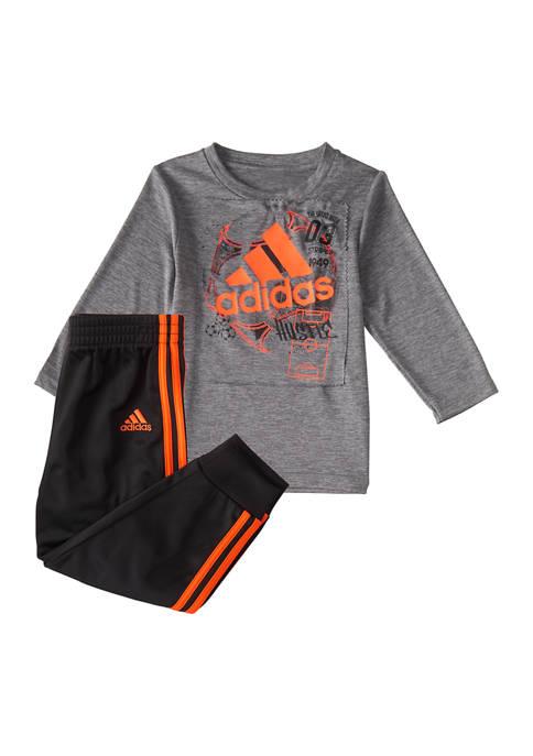 adidas Baby Boys 2-Piece Long Sleeve Shirt and