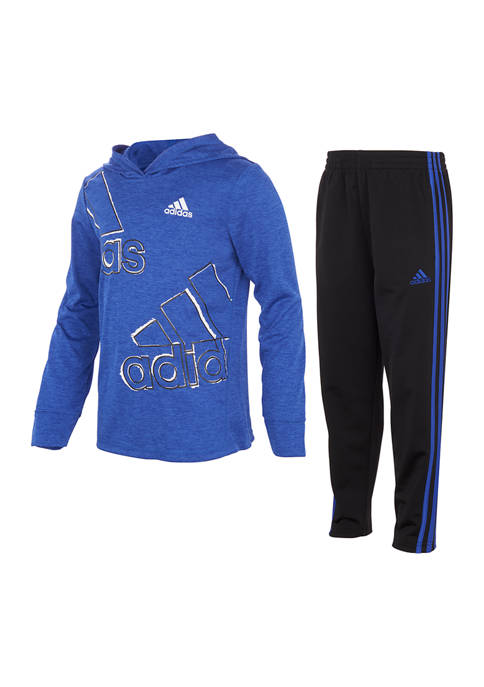 adidas Baby Boys 2-Piece Hooded T-Shirt and Pants