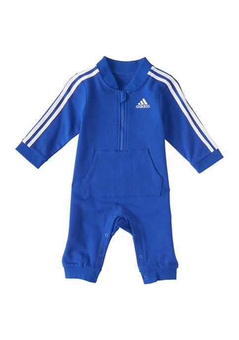 adidas Baby Boys 3 Stripe Coverall