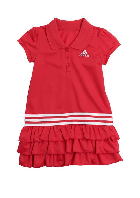 Toddler Girls Adidas Short Sleeve Polo Dress