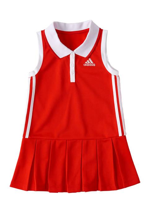 Toddler Girls Sleeveless Polo Dress