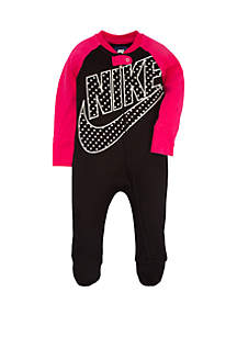 Baby Girls Futura Dot Footed Coverall