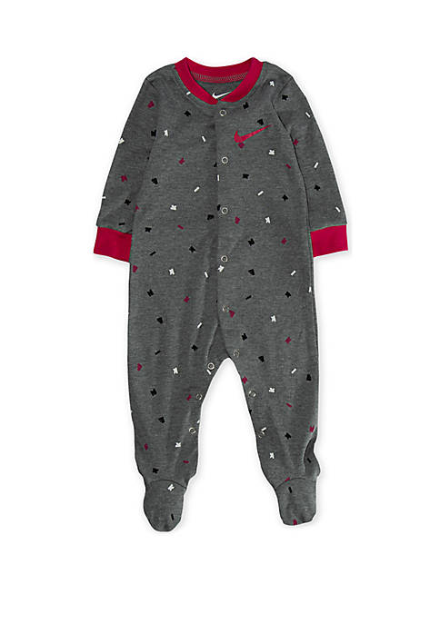 Baby Girls Long Sleeve Logo Graphic Footed Coverall