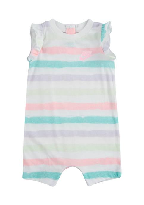 Nike® Baby Girls Sidewalk Chalk Printed Romper