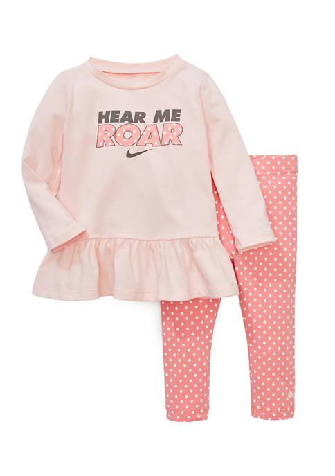 Nike® Baby Girls Graphic Top and Leggings Set
