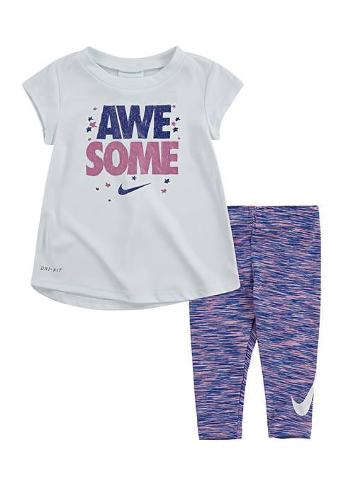 Nike® Baby Girls Cross Dye Legging Set