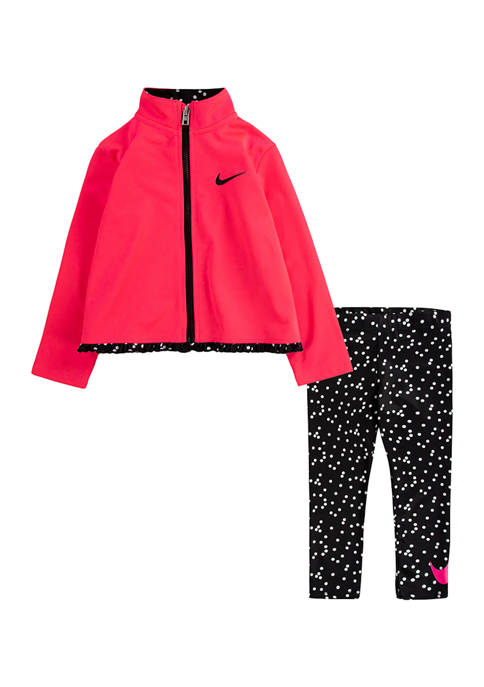Nike® Baby Girls Dot Tricot Jacket and Legging