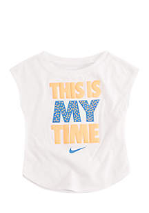 Toddler Girls Dri-FIT Doodle Swoosh Short Sleeve T-Shirt