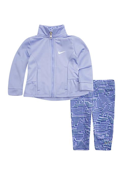 Nike® Toddler Girls Tricot Jacket Ruched Back Legging