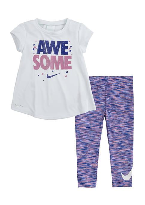 Nike® Toddler Girls Awesome Leggings Set
