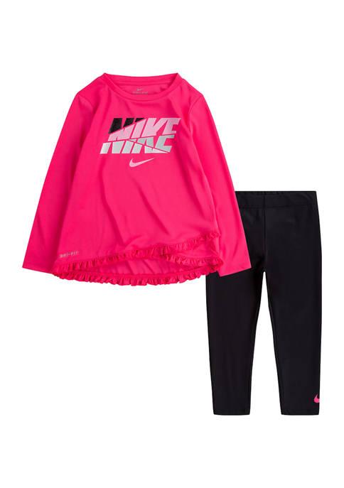 Nike® Toddler Girls Bright Pink Legging Set