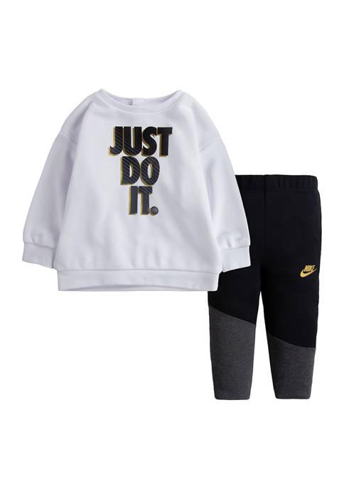 Toddler Girls Go For Gold Legging and Sweatshirt Set