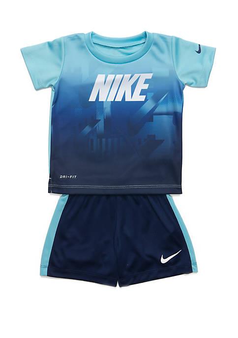 103d94e084 Nike® Baby Boys Short Sleeve Top and Mesh Short Set | belk