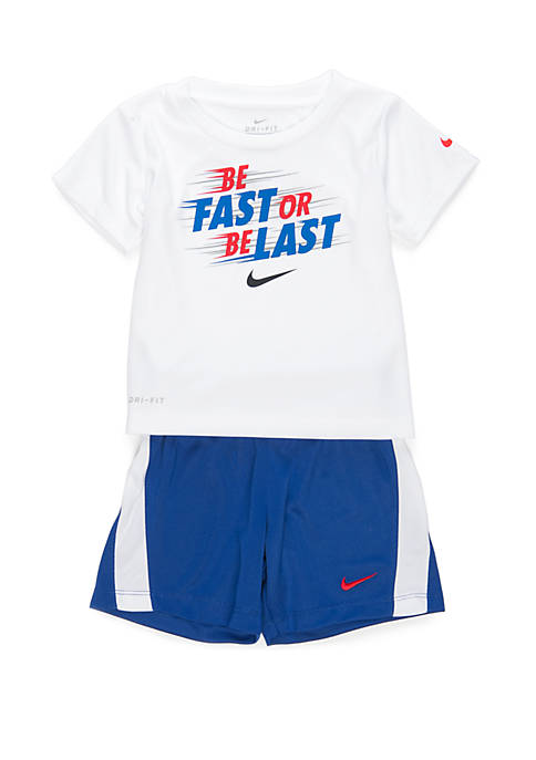 Baby Boys Be Fast Tee and Short Set