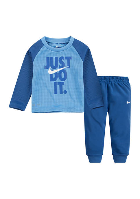 Nike® Baby Boys Long Sleeve Thermal Pants Set