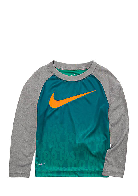 Nike® Toddler Boys Dri-FIT Ombre Text Print Long