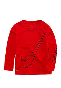 Toddler Boys Dri-FIT Oversize Swoosh Thermal Long Sleeve T-Shirt
