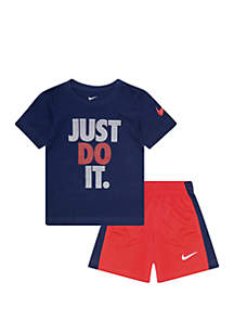 Nike® Toddler Boys JDI Cotton Short Sleeve Tee and Short Set